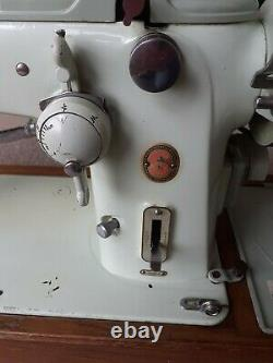 Vintage Singer 319k Zig Zag Semi Industrial Automatic Sewing Machine