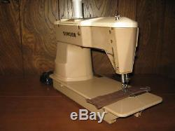 Vintage Singer 401A Heavy Duty Industrial Sewing Machine w Foot Pedal