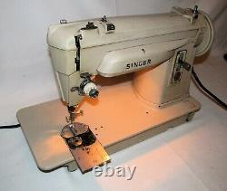 Vintage Singer Industrial Sewing Machine 414G 414 G with Foot Pedal & Attachments