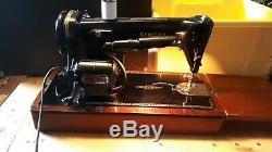 Vintage electric Singer sewing machine semi industrial 201K, good working order