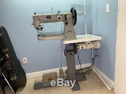 Walking foot leather sewing machine Heavy Duty Juki 441 Clone Industrial Servo