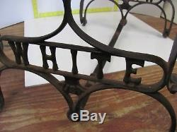 White Antique Industrial Cast Iron Coffee Side Table Legs Sewing Machine Base