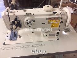 Yamata-1541S-Single-Needle-Walking-Foot-Sewing-Machine-w-Table-Servo-Motor-NEW