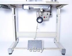 Yamata 1541S Walking Foot Uphostery Sewing Machine, Table Juki DNU-1541, motor. DIY