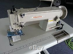 Yamata FY5318 walking foot lockstitch sewing machine Servo Motor+Stand(Juki 141)