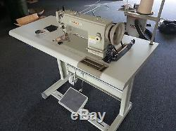 Yamata FY5318 walking foot upholstery sewing machine clutch motor+Stand+Lamp DIY