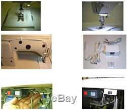 Yamata FY810 Sewing Machine, Reverse, Post Bed, Roller feed lamp Servo Motor+Table