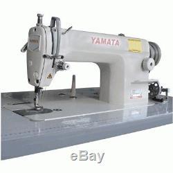 Yamata FY8700 Lockstitch Industrial Sewing Machine Servo +Table Juki DDL8700 RF