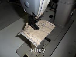 Yamata GC/FY-810 Sewing Machine, Post Bed, Roller feed lamp Servo Motor+Table. DiY