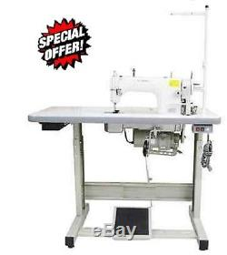Yamata Lockstitch Industrial Sewing Machine Servo Motor+Table Juki DDL big hook